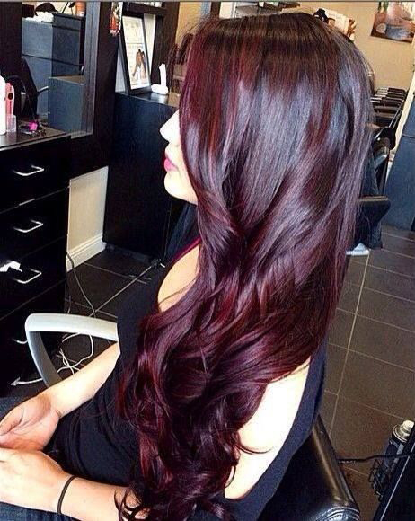 Black hair with red highlights hair highlights ideas