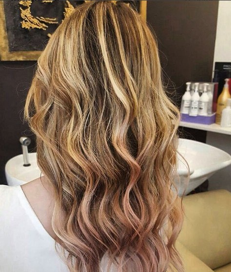 25 Rose Gold Hair Highlights Ideas From Instagram
